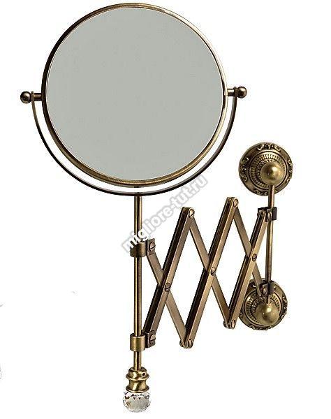 Зеркало оптическое настенное Migliore Cristalia ML.CRS-60.219 цвет бронза SWAROVSKI