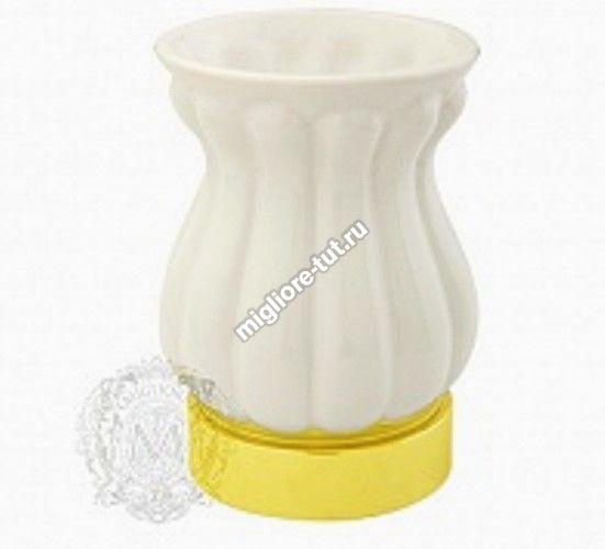 Стакан настольный керамика Migliore Olivia ML.OLV-60.612 цвет белый/золото
