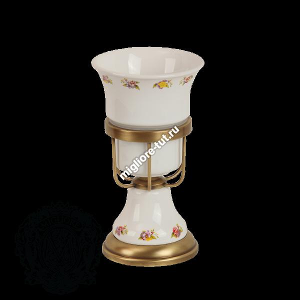 Стакан настольный Migliore Provance ML.PRO-60.512 цвет хром , керамика с декором