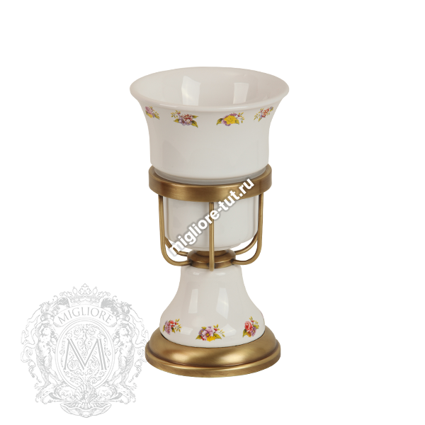 Стакан настольный Migliore Provance ML.PRO-60.512 цвет бронза , керамика с декором