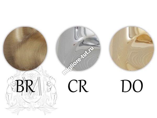 Стакан и мыльница настольная Migliore Provance ML.PRO-60.510 цвет бронза , керамика с декором