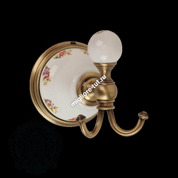 Крючок Migliore Provance ML.PRO-60.509 цвет золото , керамика с декором