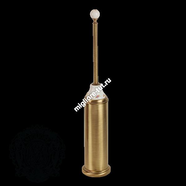 Ершик напольный Migliore Provance ML.PRO-60.543 цвет золото , керамика с декором
