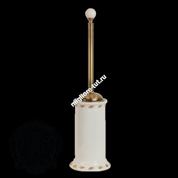 Ершик напольный Migliore Provance ML.PRO-60.513 цвет хром , керамика с декором