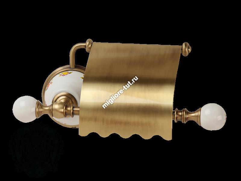 Бумагодержатель закрытый Migliore Provance ML.PRO-60.506 цвет хром , керамика с декором