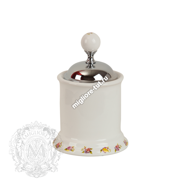 Баночка низкая Migliore Provance ML.PRO-60.527 цвет золото , керамика с декором