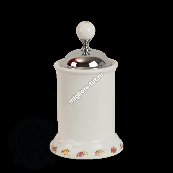 Баночка высокая Migliore Provance ML.PRO-60.528 цвет золото , керамика с декором