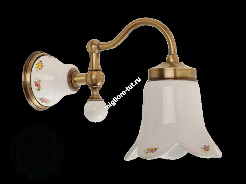 Светильник настенный Migliore Provance ML.PRO-60.531 цвет хром , керамика с декором