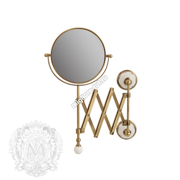 Зеркало оптическое настенное Migliore Provance ML.PRO-60.519 цвет бронза , керамика с декором