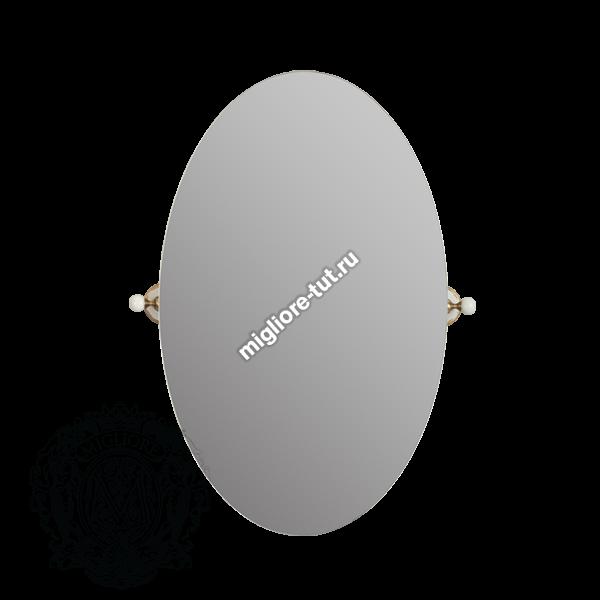 Зеркало овальное Migliore Provance ML.PRO-60.533 бронза , керамика с декором