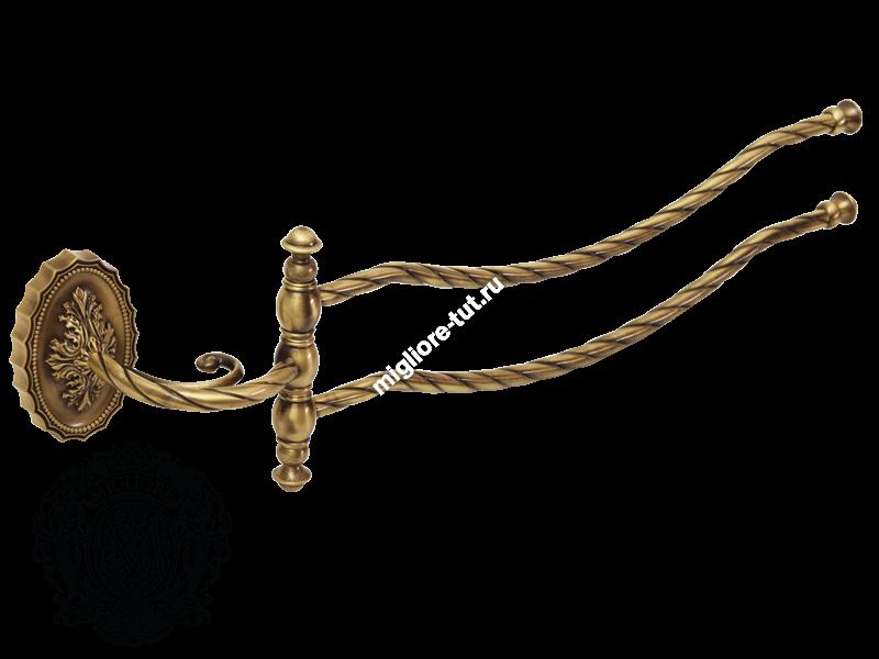 Полотенцедержатель двойной поворотный Migliore Edera ML.EDR-60.324 цвет золото