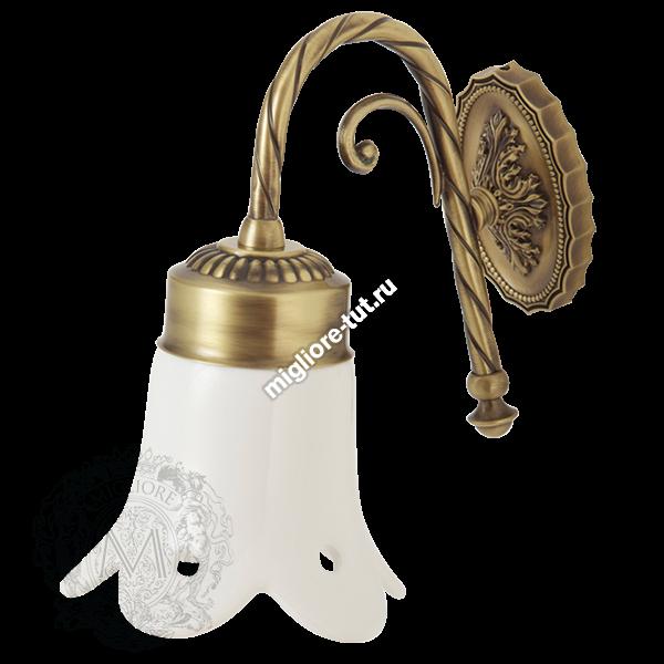 Светильник настенный керамический Migliore Edera ML.EDR-60.330 цвет хром