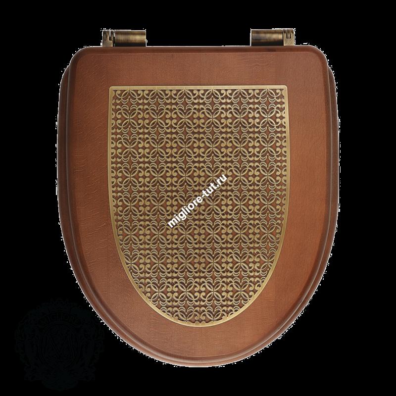 Унитаз напольный с низким бачком и кнопкой для слива Migliore Milady ML.MLD-25.712.D3/BR.BRK