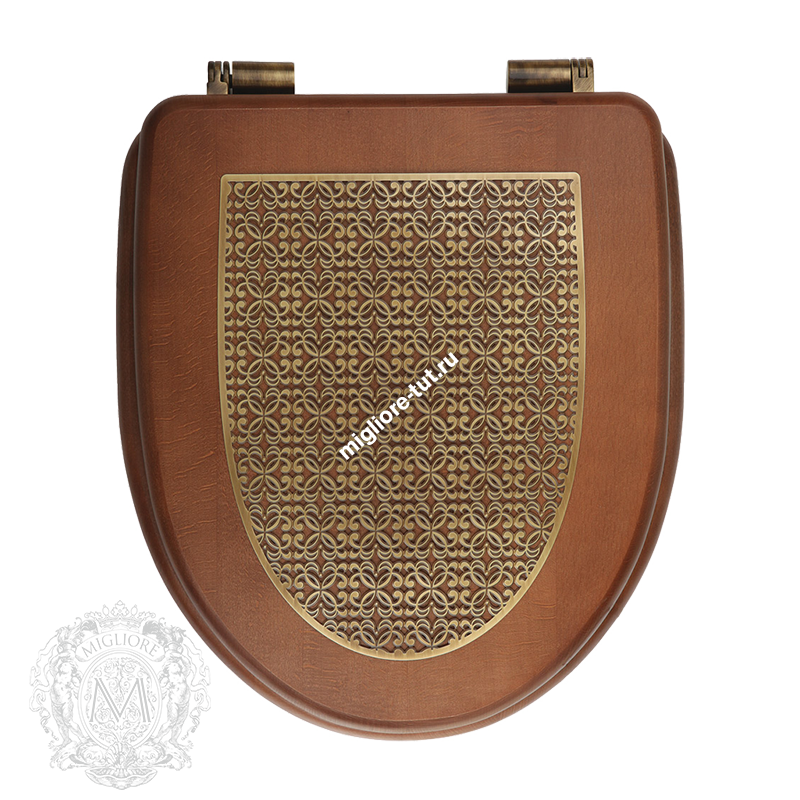 Унитаз моноблок с кнопкой Migliore Milady декор ML.MLD-25.702.D2.DOK