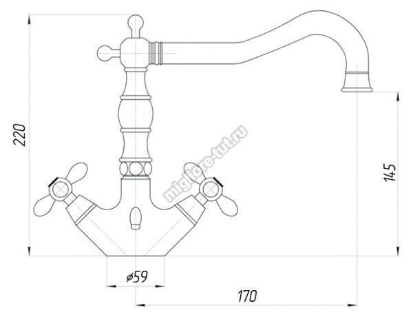 Смеситель для раковины Migliore Princeton Plus ML.PRP-8034 цвет бронза