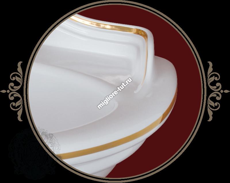 Раковина 32 Migliore Milady декор ML.MLD-25.742 цвет золото