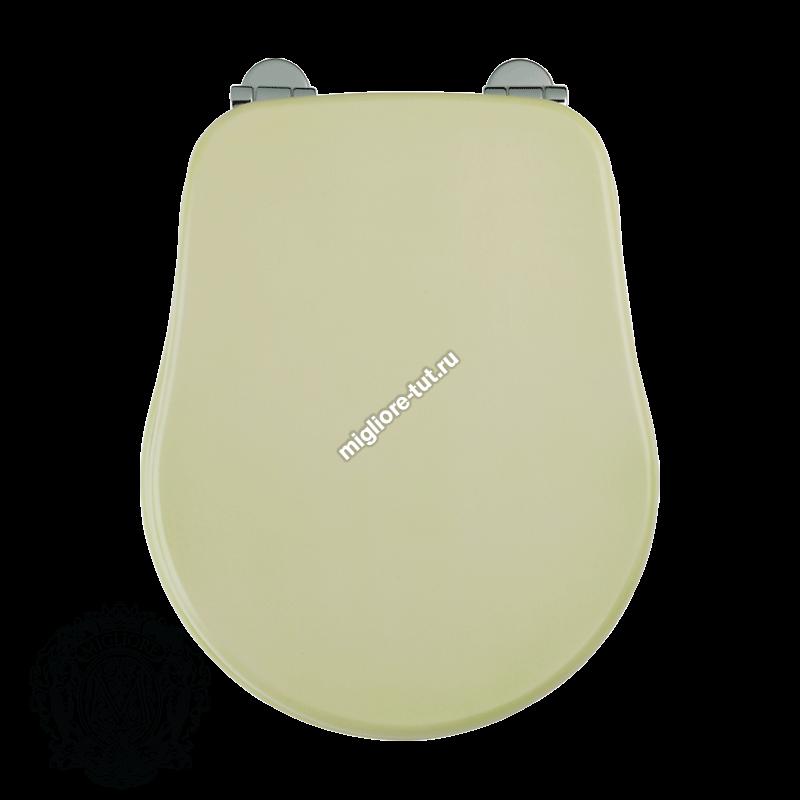 Сиденье для унитаза с системой Microlift Migliore Bella ML.BLL-26.110.DV.CR.BR.DO цвет светло-зеленая патина; фурнитура хром,бронза,золото