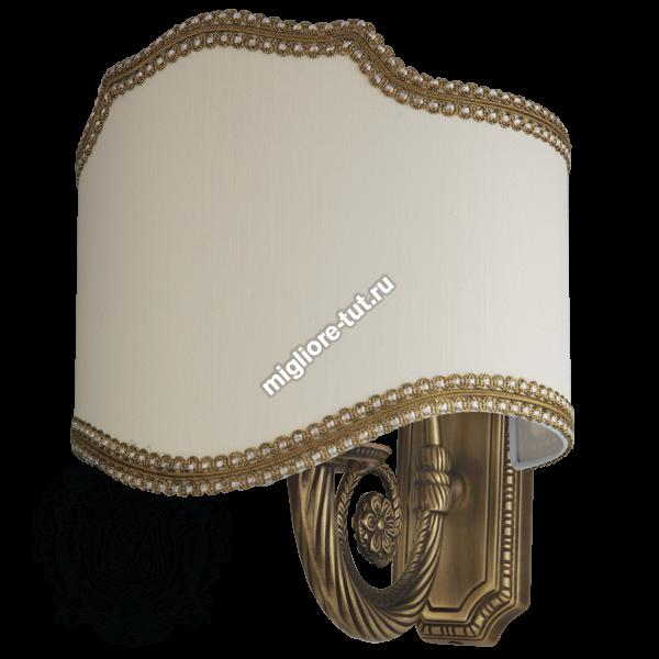 Светильник настенный текстильный Migliore Mirella ML.MRL-LP12 цвет хром с золотом