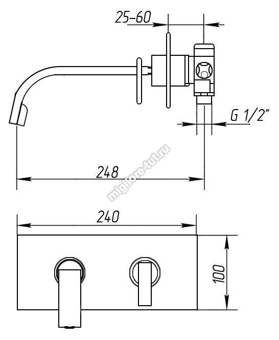 Смеситель для раковины Migliore Alimatha ML.ALC-5745 цвет золото