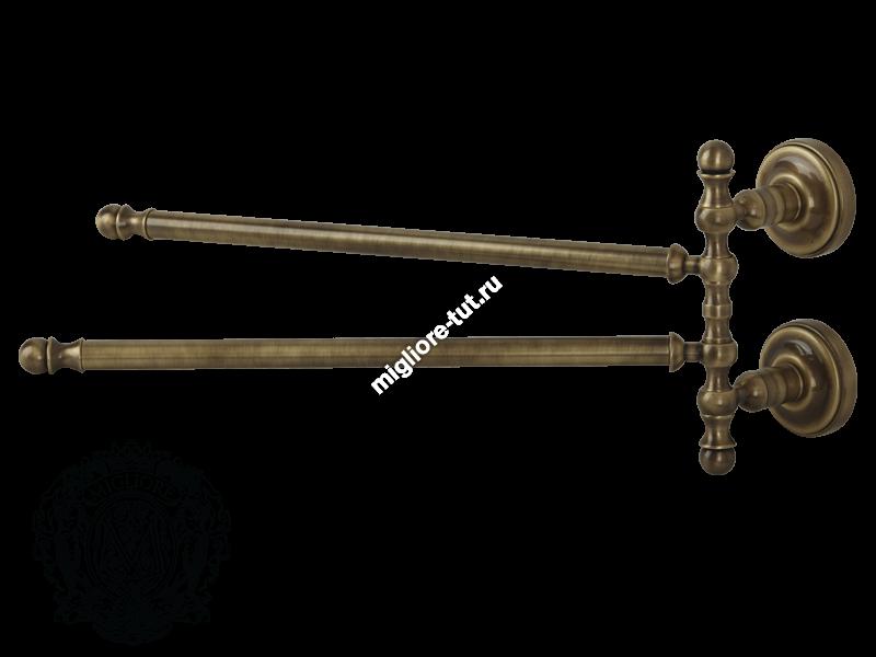Полотенцедержатель двойной поворотный Migliore Mirella ML.MRL-M055 цвет бронза