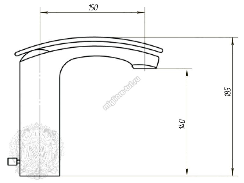 Смеситель для раковины Migliore Flo ML.FLO-7032 цвет хром схема